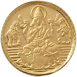 Bangalore Refinery 1 gm, 24k (999) Yellow Gold Lakshmi Coin