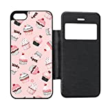 Best Cutest I Phone 5 Cases - Cutest Cupcakes Pink Black Flip Case for iPhone Review