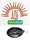 Florabest Set: 20 Messer + 1 Schneidscheibe für Florabest Akku Rasentrimmer FRT 18 A und FRT 18 A1