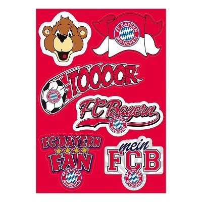 FC Bayern München: Aufkleber Set Kids Aufkleberkarte - offizielles Lizenzprodukt