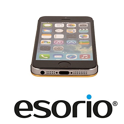esorio® Apple iPhone 5 5S SE Hülle Snap On Bumper in gold gold