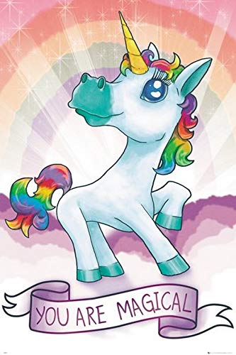 GB eye Ltd GB Eye, Unicornio, Magical, Maxi Poster 61x91.5cm, Varios Colores,