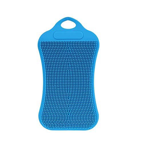 Berrose -1 Stück Silikon Geschirrspülmittel Schwamm Wäsche Küchenreinigung Antibakterielles Werkzeug-Silikon-Reinigungsbürste Fruchtpinsel -Multipurpose Dish-Washing Mehltau frei antimikrobiell
