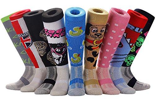 Samson Hosiery    SPORT STRIPE Print Funky Novelty Fashion Gift Socks Football Rugby Sports And Casual Knee High Socks For Men Women Kids Unisex  Small UK Shoe Size 12-3