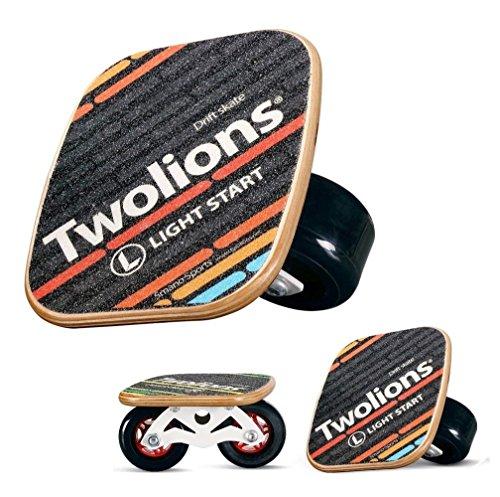 TWOLIONS Freeline Skates,Drift Skate Ahorn Pedal und 72mm PU Räder 608 ABEC-9 Lager -