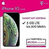 Apple iPhone XS (Space Grau) 64GB Speicher Handy mit Vertrag (Telekom Magenta Mobil M) 5GB Datenvolumen 24 Monate Mindestlaufzeit