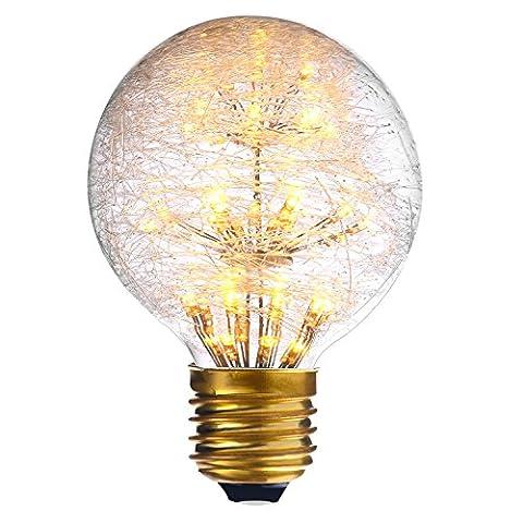 LED Edison Glühbirne E27 G95 Globe Lichterkette Lampe für Weihnachten Neujahr Party Feste Homedeko Warmweiß