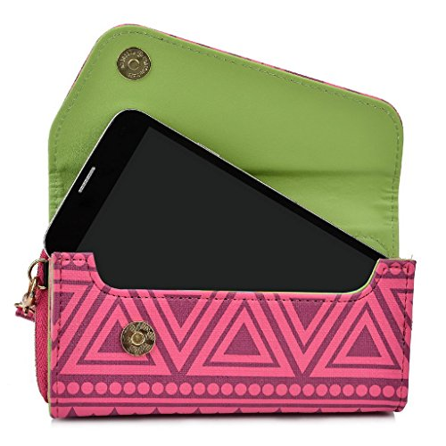 Kroo Tribal Urban Style Housse cas Wall Let Embrayage compatible avec HTC Desire 320 Schwarz/Weiß rose