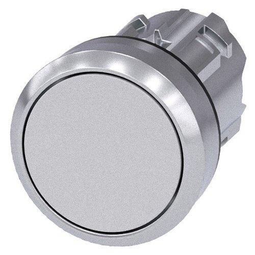 Siemens Sirius ATC - Poussoir métallique/A brillant blanc bouton rasante momentaneo