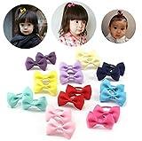 10 Pairs Candy Farbe Bowknot Gummiband Haargummi Wrapper Seil Haarband Pferdeschwanz Halter Haar Styling Werkzeuge für Baby Kleinkind Kleine Mädchen (Farbe Zufällig)