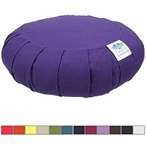 CalmingBreath Coussin de méditation zafu Coton, Sarrasin rempli - Superbes Couleurs !