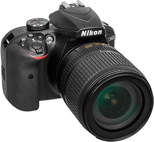 Galleria fotografica Nikon D3400 Fotocamera Reflex Digitale con Obbiettivo Nikkor AF-S 18/105VR, 24,7 Megapixel, LCD da 3, SD da 8 GB 300x Premium Lexar, Nero [Nital Card: 4 Anni di Garanzia]