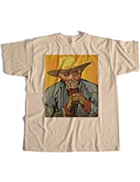 Old Skool Hooligans Fine Art T Shirt - Vincent Van Gogh Patience Escalier