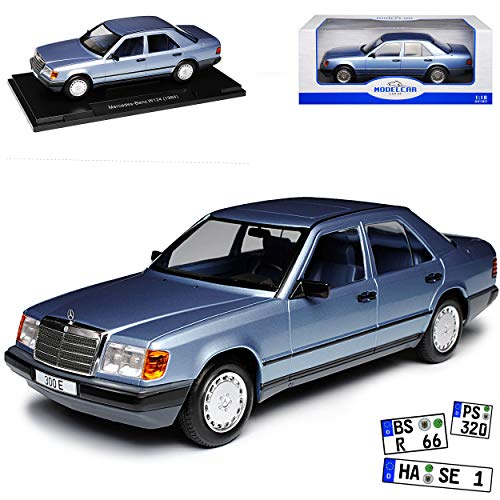Model Car Group Mercedes-Benz E-Klasse 300 E W124 Limousine Metallic Blau 1984-1997 1/18 Modell Auto (Räder C-klasse Mercedes-benz)