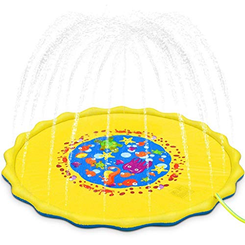 Cuteelf Kinder im Freien Wasserspray Pad Sommer aufblasbare Verdickung PVC aufblasbare Wasserspray Pad Kinder Geschenke im Freien Wasserspielzeug Kinder Sprinkler Wasserspray
