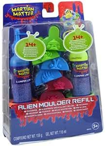 Hasbro - Martian Matter - Pâte a modeler - Recharge De Luxe Martian Matter bleu & Jaune