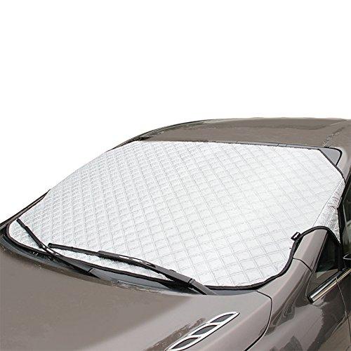 Preisvergleich Produktbild K-Bright 92x142cm Auto Sonnenschutz / Sonnenblende Frontscheibe,Auto Abdeckung für Winter+Sommer,Sonnenschutz Windschutzscheiben Schneeschutz Abdeckung(Mit Aufbewahrungsbeutel)