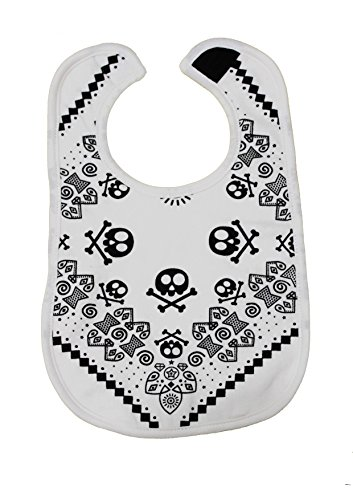 Rock Star Baby s Trendy Moo-Bavaglino, colore: bianco