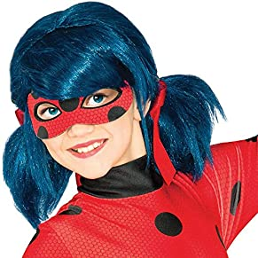 Ladybug - Peluca complemento de disfraz infantil, talla única (Rubie's Spain 32929)