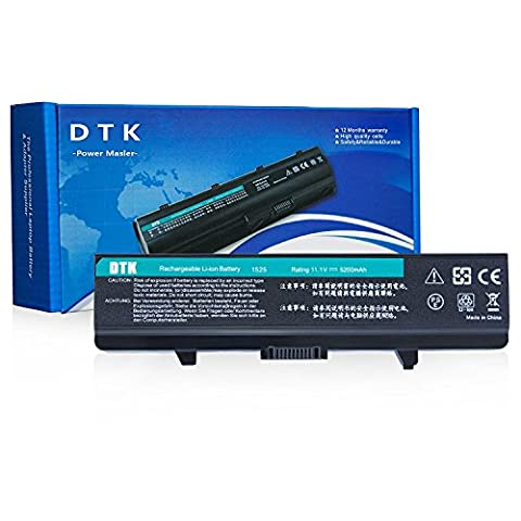 Dtk® New High Performance Laptop Battery For DELL Inspiron 1525 1526 1545 1546 1440 1750 VOSTRO 500 . K450N - 12 Months Warranty [ 6-cell 11.1V 4400mah ] Notebook battery
