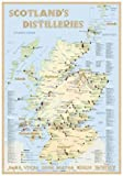 Whisky Distilleries Scotland - The Whiskylandscape in Overview - Maßstab 1:1.750.000