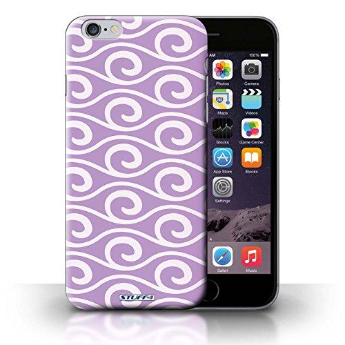 Kobalt® Imprimé Etui / Coque pour iPhone 6+/Plus 5.5 / Rouge conception / Série Motif ondes chic Violet