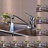 LED Wasserhahn Armaturen, yoyoug Küche Spüle 7Farbe Wasser Glow Wasser Stream Dusche wechseln LED Armaturen Light