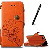 Slynmax Orange Coque iPhone 6s Plus Housse en PU Cuir Ultra Slim Portefeuille Case...