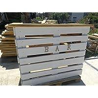 WOOD ART ELY Bancone Bar Madera Maciza De Castaño, Piano Superior 5cm estantes Interiores de 3cm, Dimensiones 150x 50x 100H Hecha a Mano, Incluye Luces LED y Accesorios Bar