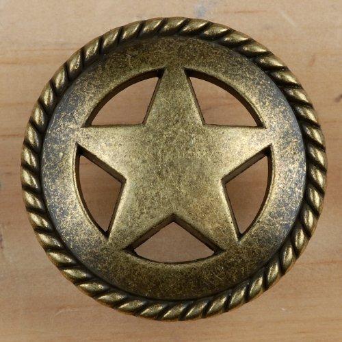 Set von 6Rustikal Seil Lone Star Schublade zieht Möbelknopf Western Southwest Decor Texas