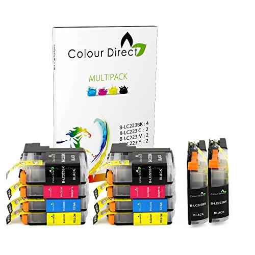 Colour Direct 10 Cartucce LC223 Compatibile Inchiostro Sostituzione per Brother DCP-J4120DW, DCP-J562DW, MFC-J4420DW, MFC-J480DW, MFC-J4620DW, MFC-J4625DW, MFC-J5320DW, MFC-J5620DW, MFC-J5625DW