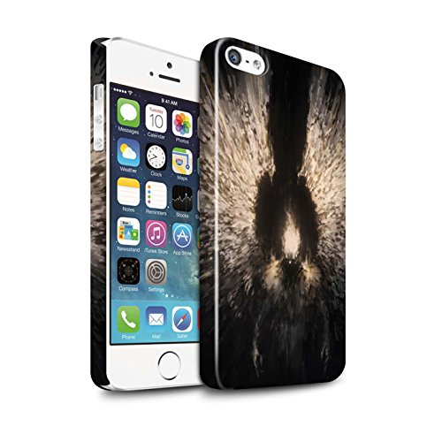 Offiziell Chris Cold Hülle / Glanz Snap-On Case für Apple iPhone 5/5S / Pack 10pcs Muster / Dunkle Kunst Dämon Kollektion Zeriel das Licht