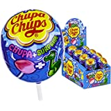 Chupa Chups Strawberry Flavoured Lollipops with Magic Animals Sun Changing Colour (Pack of 2), 12g
