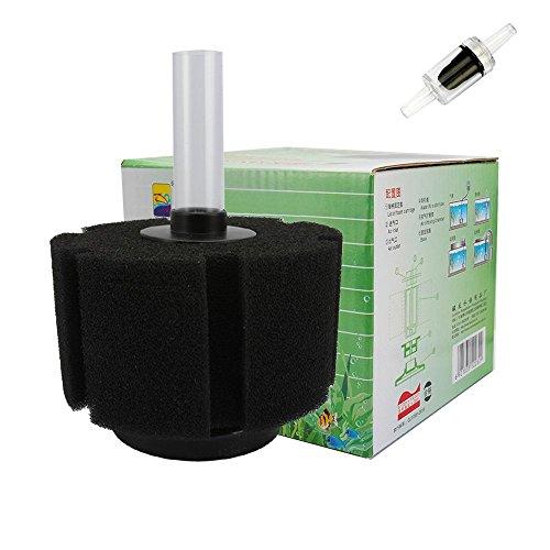 Filter Filtration Für Aquarium Wasser Sponge Filter mit Rückschlagventil schwarz Schwammfilter (M) ()
