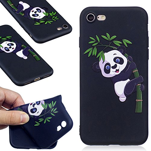 "Coque iPhone 7 , IJIA Ultra-mince Corgi Adorable Chiens (Kiss My ASS) TPU Noir Doux Silicone Bumper Case Cover Coque Housse Etui pour Apple iPhone 7 4.7"" BF35"