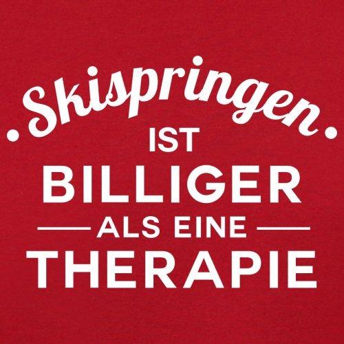 Skispringen ist billiger als eine Therapie - Damen T-Shirt - 14 Farben Rot