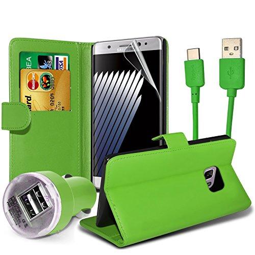 FONETIC Lösungen ® Google Pixel XL stoßfest Flip Carbon Gel Fällen Bezüge mit Premium Qualität Crystal Clear LCD Displayschutzfolie Guard 4-in-1 Value pack (Green)