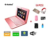 G-AnicaNotebook Tablet-PC Netbook Android 4.4.2 HDMI 1024 x 600 Pixel (Wifi-SD-MMC),RAM 512MB ROM 4GB (10 Zoll, Rosa)