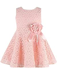 M/ädchen Kinder /Ärmellos Spitze Floral Einteiliges Kleid Kind Prinzessin Party Kleid MOIKA Baby M/ädchen Kleid f/ür 0-7 Jahre
