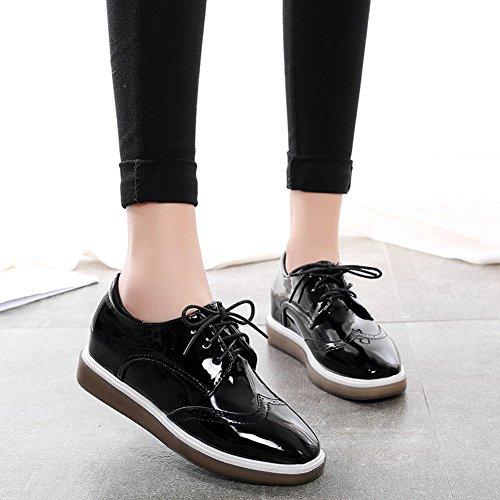 XTIAN , chaussures compensées femme Noir