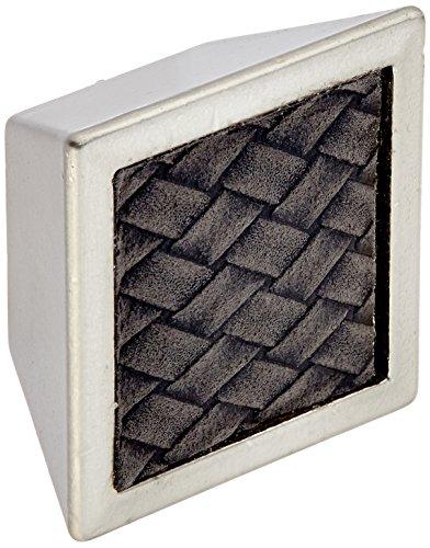 Laurey Cabinet Hardware Knauf, quadratisch, 3,8 cm Modern Satin Nickel and Black -