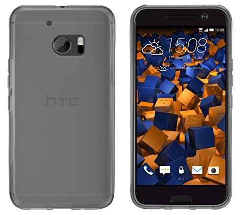mumbi Schutzhülle für HTC 10 Hülle transparent schwarz
