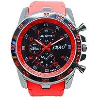 Enjoy Orologio Cronografo impermeabile orologio sportivo per estate vacanza spiaggia sport lancette Orologio luce colore rosso