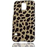 Leopard Hülle Schale Abdeckung Case Cover Shell Housing für Samsung Galaxy S5 SV S V I9600_Gelb