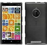 Funda de silicona para Nokia Lumia 830 - brushed plata - Cover PhoneNatic Cubierta + protector de pantalla