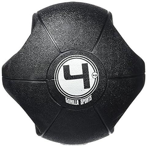 Medizinball mit Griffen Gymnastikball Fitnessball Gewichtsball 3-10 KG 5 kg