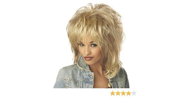 f5b4d4695d Rockin  Soul Tina Turner Blonde Ladies Fancy Dress Rock Diva 70s 80s Costume  Wig  Amazon.co.uk  Toys   Games
