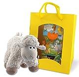Geschenkset Happy Kids mit Bio-Tee, Teesieb und Plüschschaf