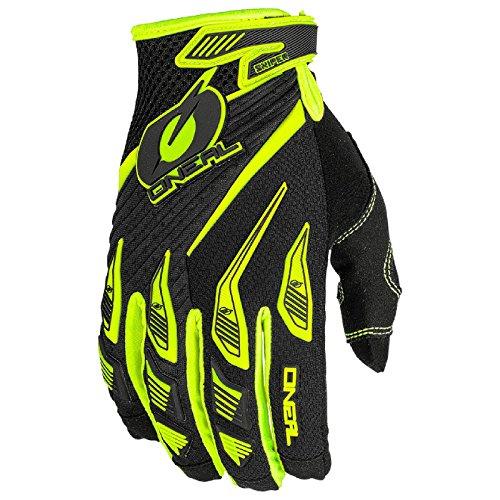 O\'Neal Sniper Elite MX Handschuhe Motocross TPR DH Downhill Enduro Offroad Mountain Bike, 0366, Farbe Gelb, Größe L