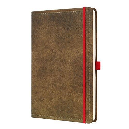 SIGEL CO639 Notizbuch, ca. A4, liniert, Design Vintage, Leder-Look, braun, 194 Seiten, Conceptum - große Auswahl